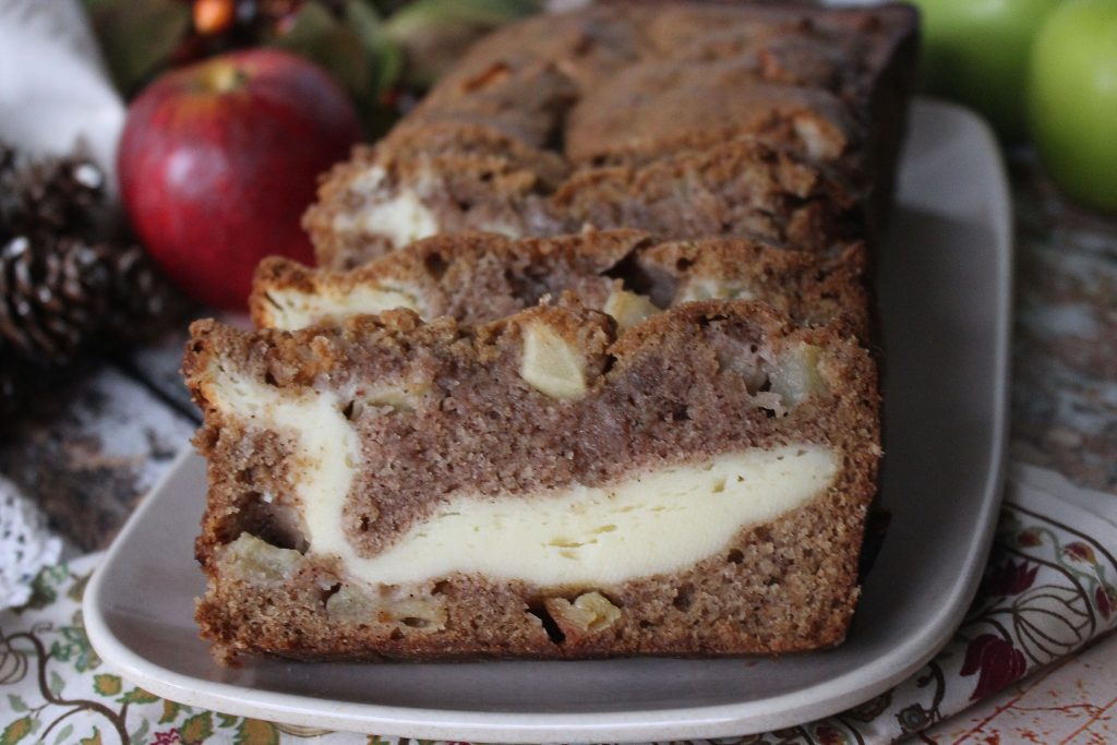 Apple Bread with Cream Cheese Filling