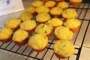 Cheddar Jalapeno Cornbread Muffins cooling