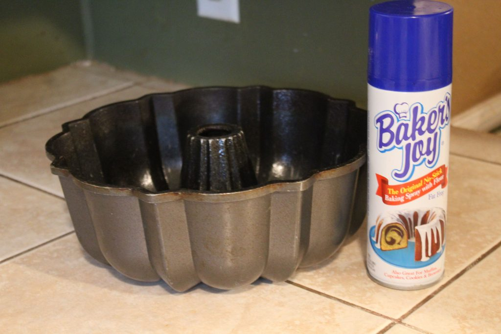 bundt pan and no stick spray