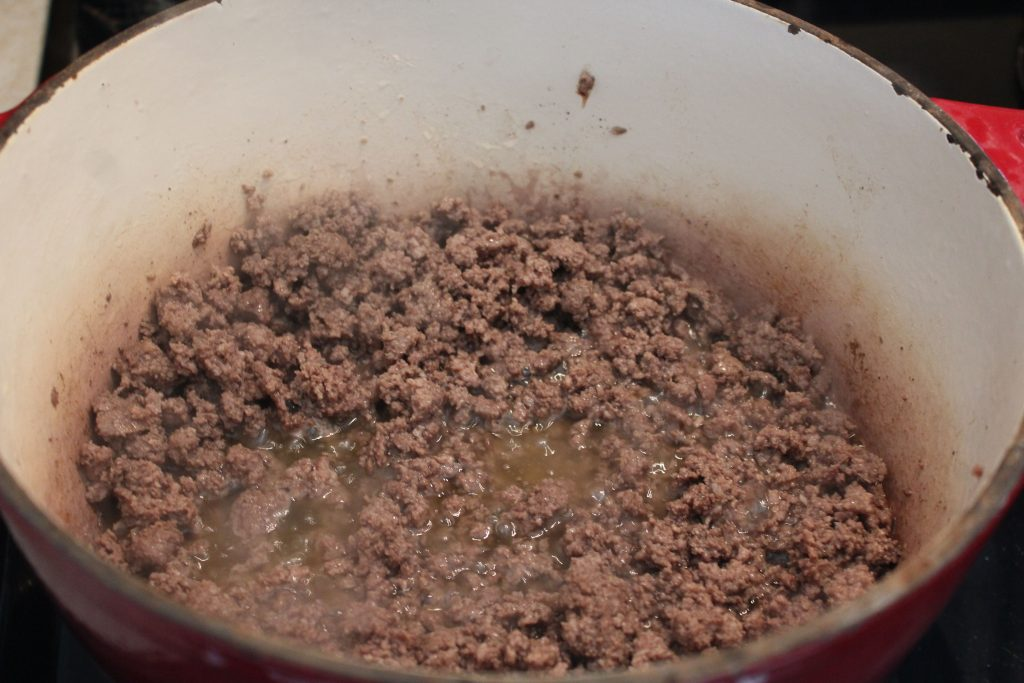 Cooked ground meat