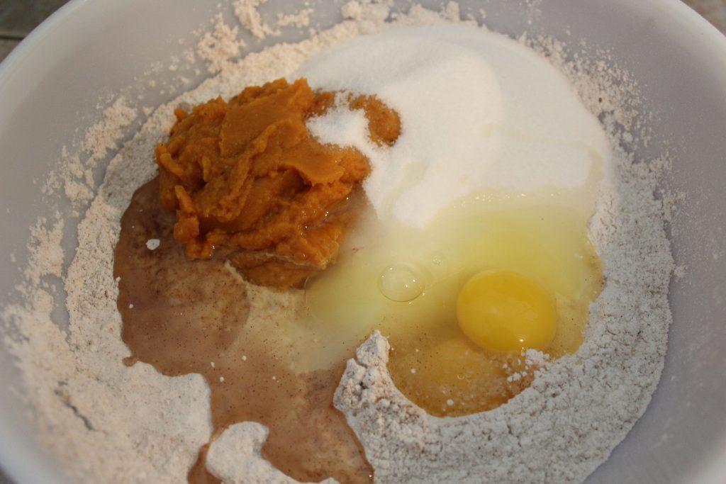 Pumpkin egg and sugar added