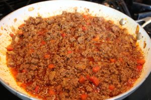 Letting meat simmer