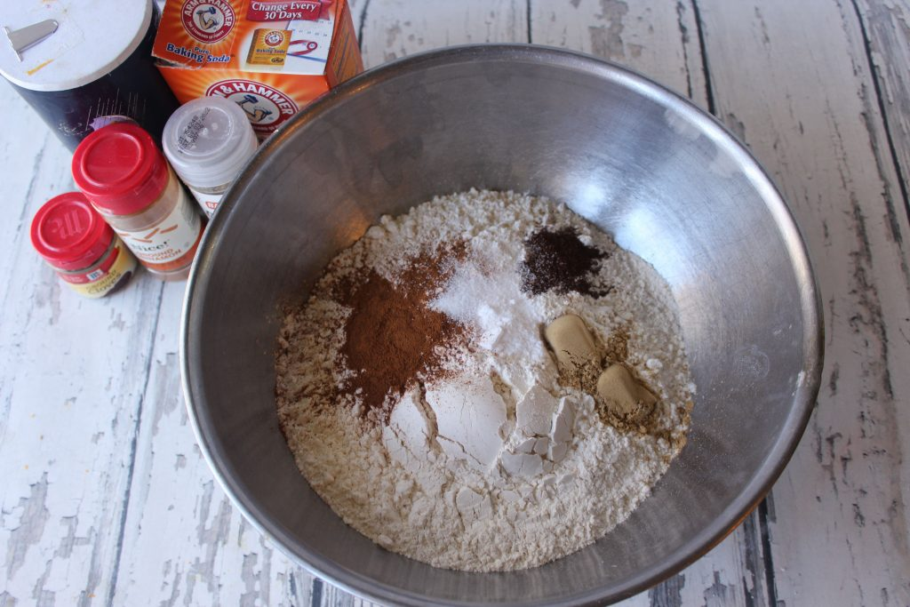 Spices added to the flour