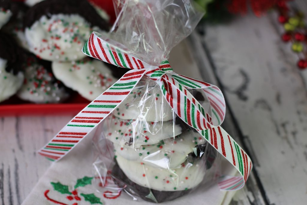 Double Chocolate mint Cookie as a gift