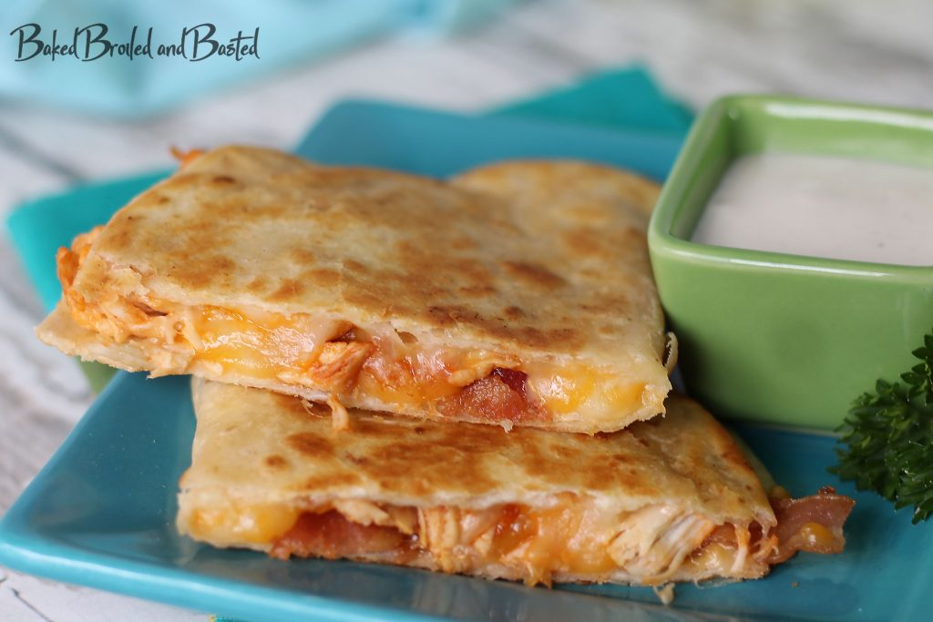 Fiesta Ranch Chicken and Bacon Quesadillas
