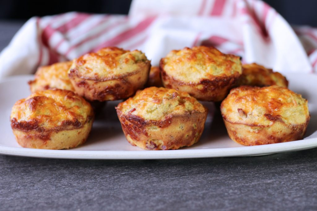 Low Carb Southwest Egg Muffins side view
