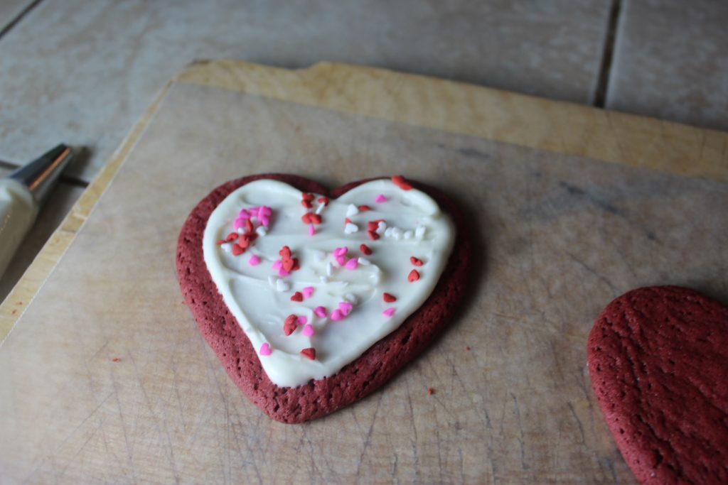 sprinkle candied hearts