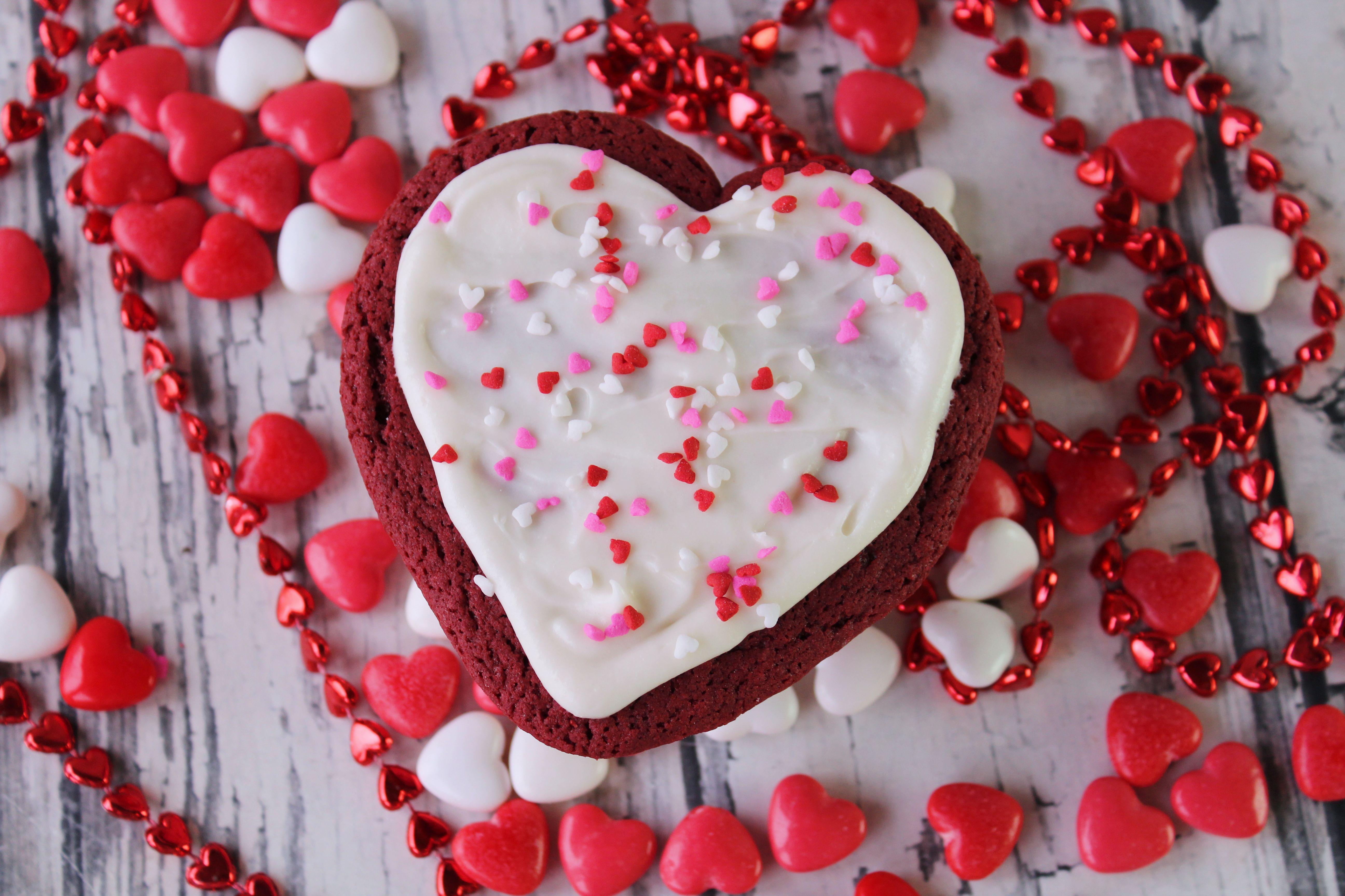 Red Velvet Heart Cookies
