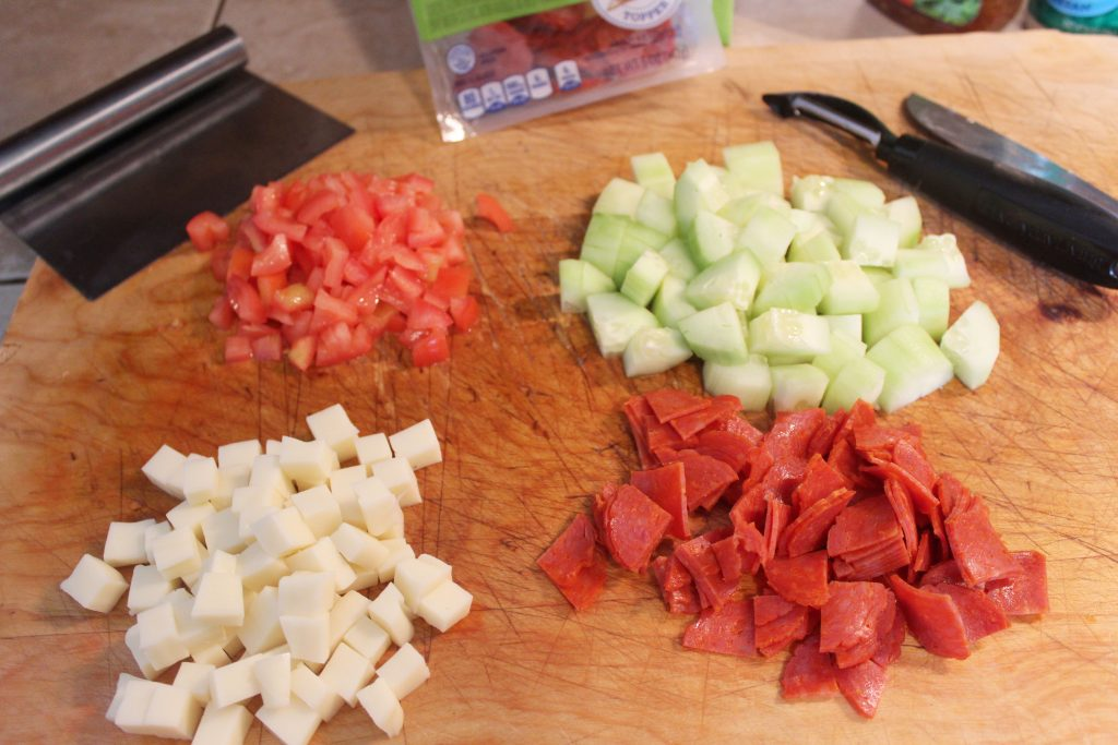 chopped ingredients
