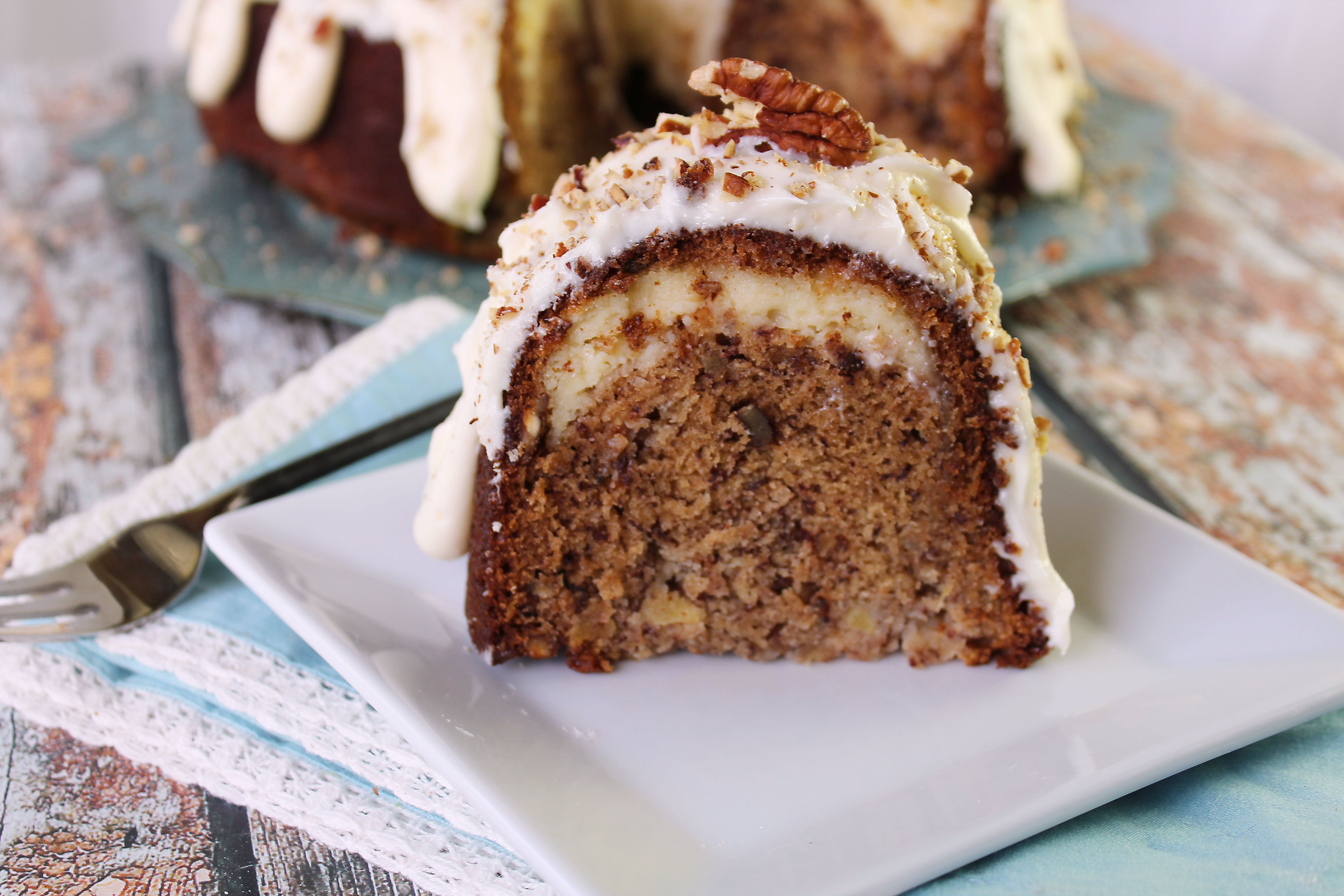 Hummingbird Bundt Cake with Cream Cheese Filling