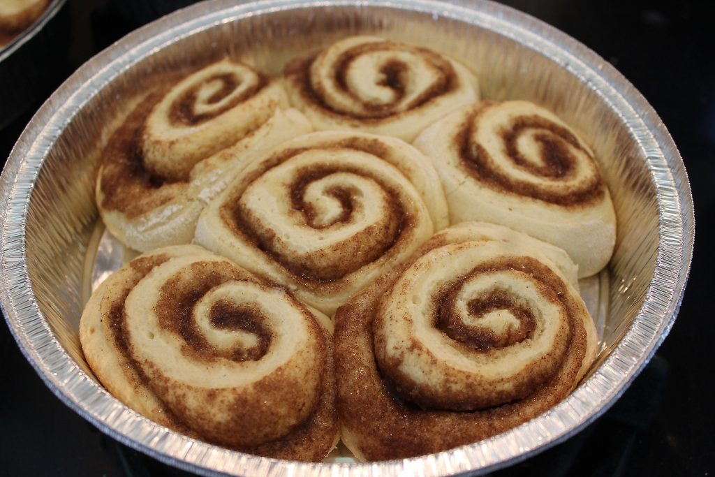 Cinnamon rolls before baking