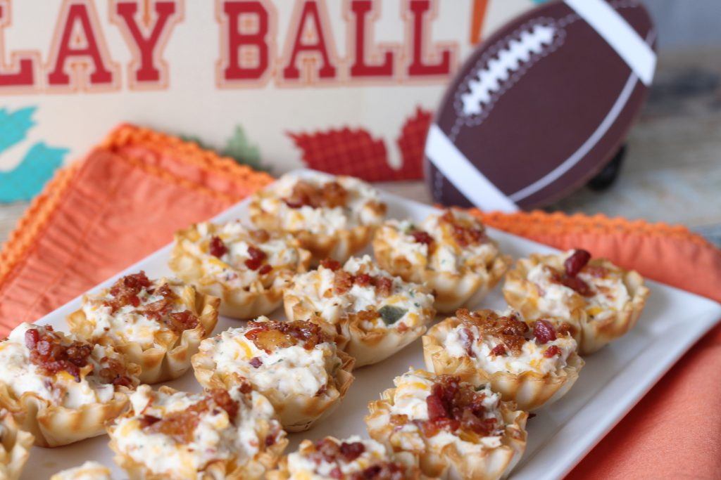 Tailgating Tasty Tarlets on a platter