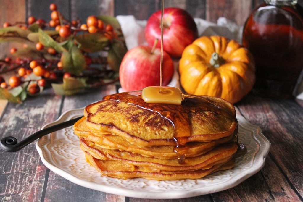 Spiced Pumpkin Apple Pancakes