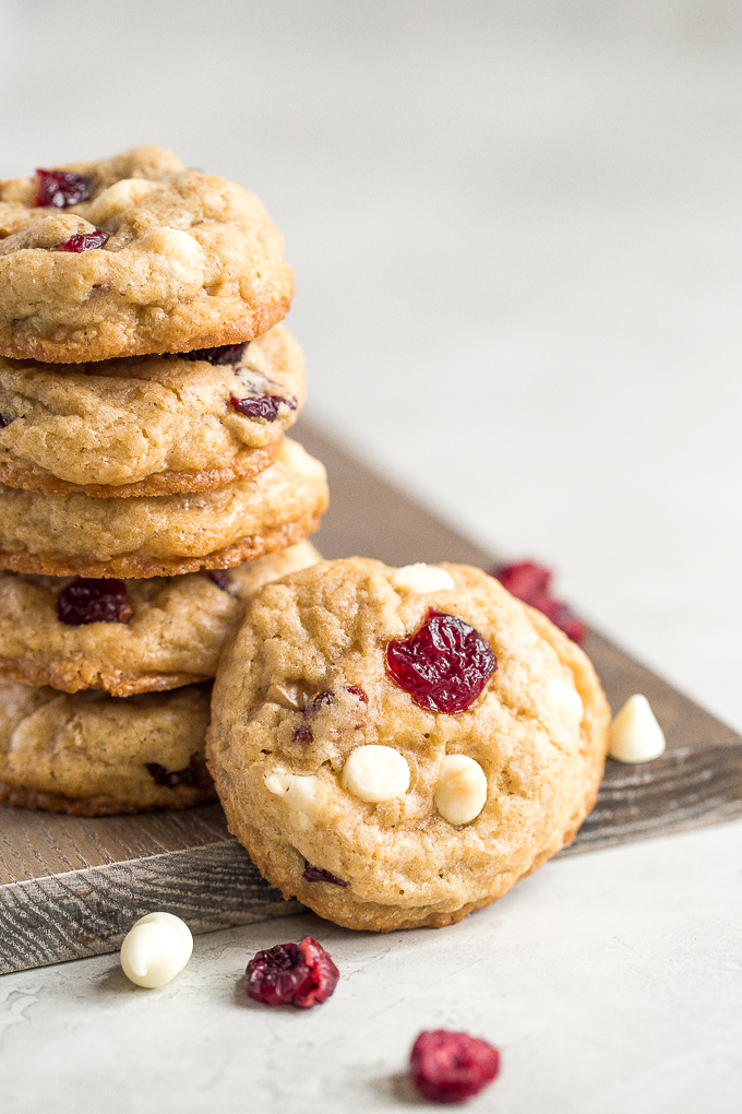 Soft and Chewy White Chocolate Cranberry Walnut Cookies