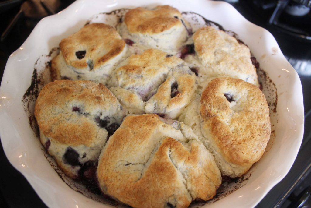 baked blueberry biscuits