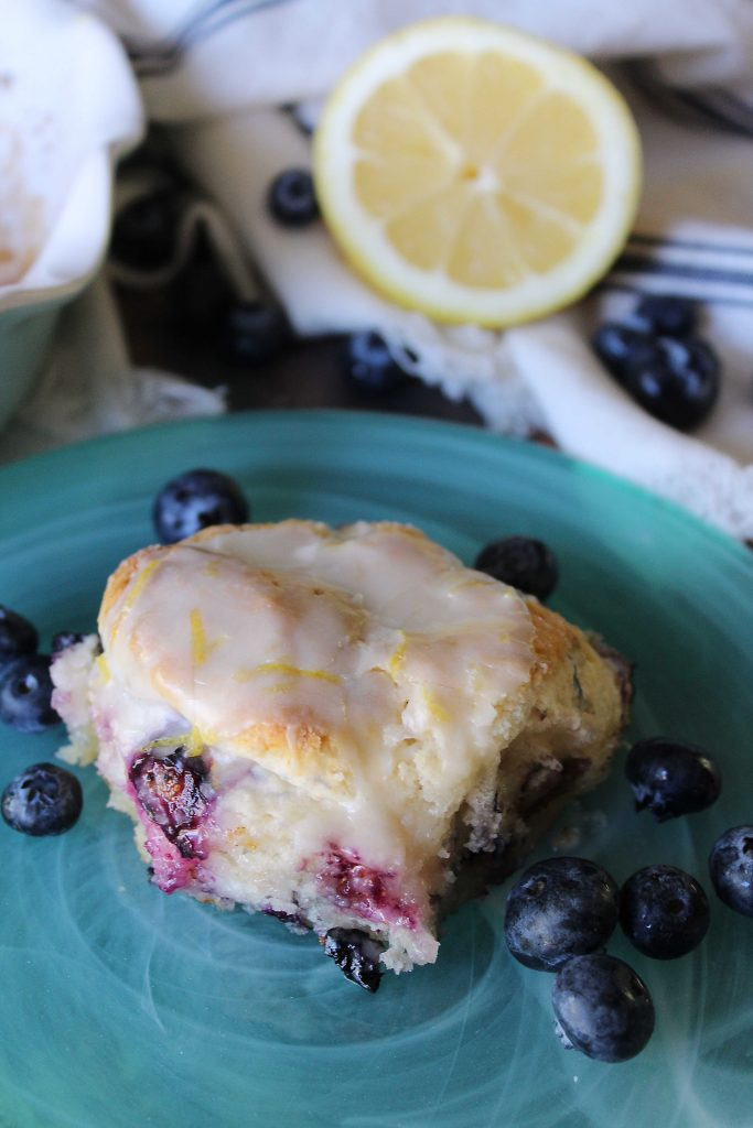 lemon bluberry biscuit on a plate