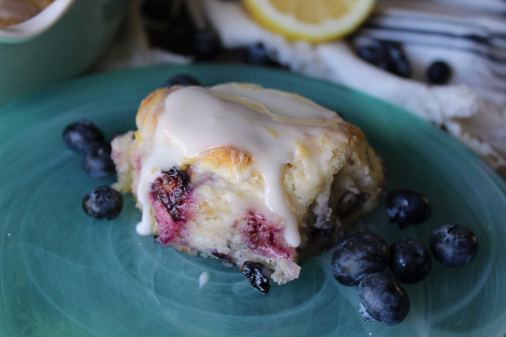 Easy Blueberry biscuit on a plate