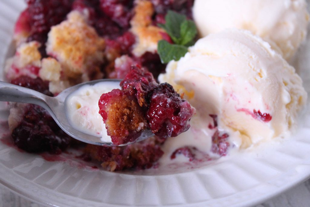 spoonful of blackberry cobbler