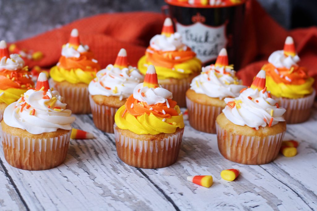Candy Corn Funfetti Cupcakes