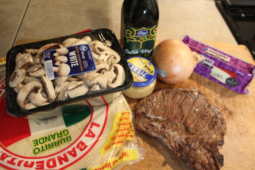 Ingredients for Leftover Steak Quesadillas