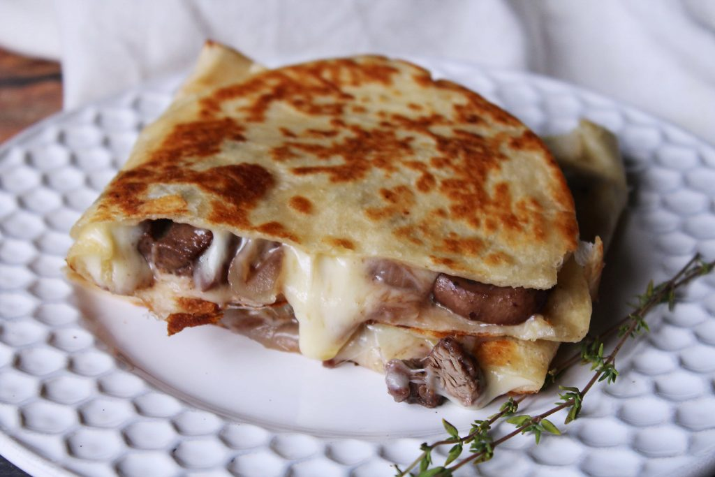Leftover Steak Quesadilla