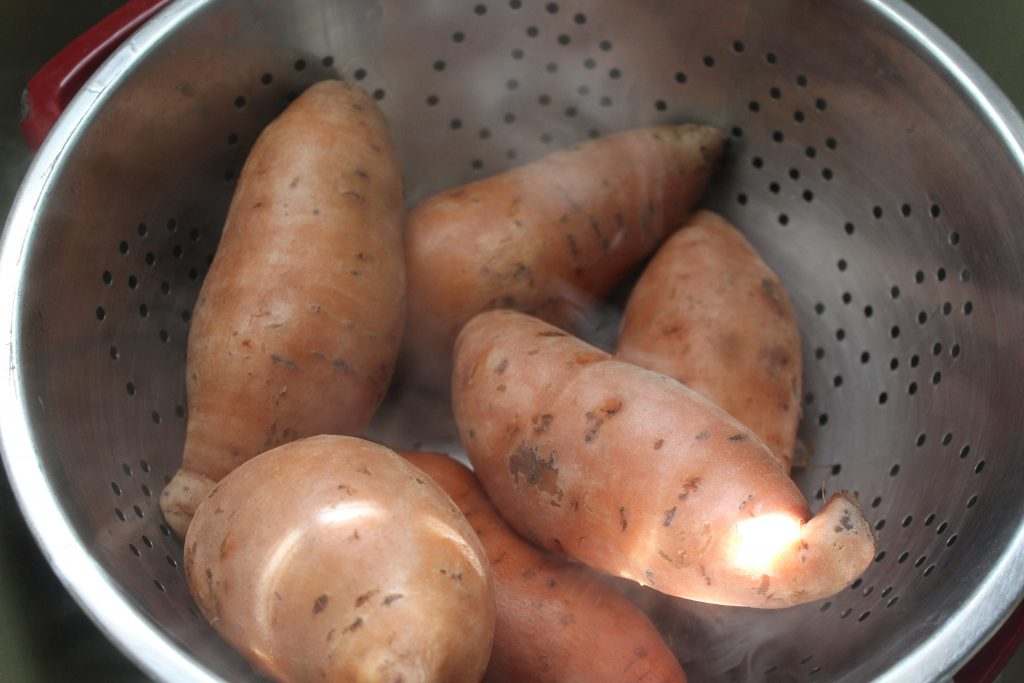 hot sweet potatoes