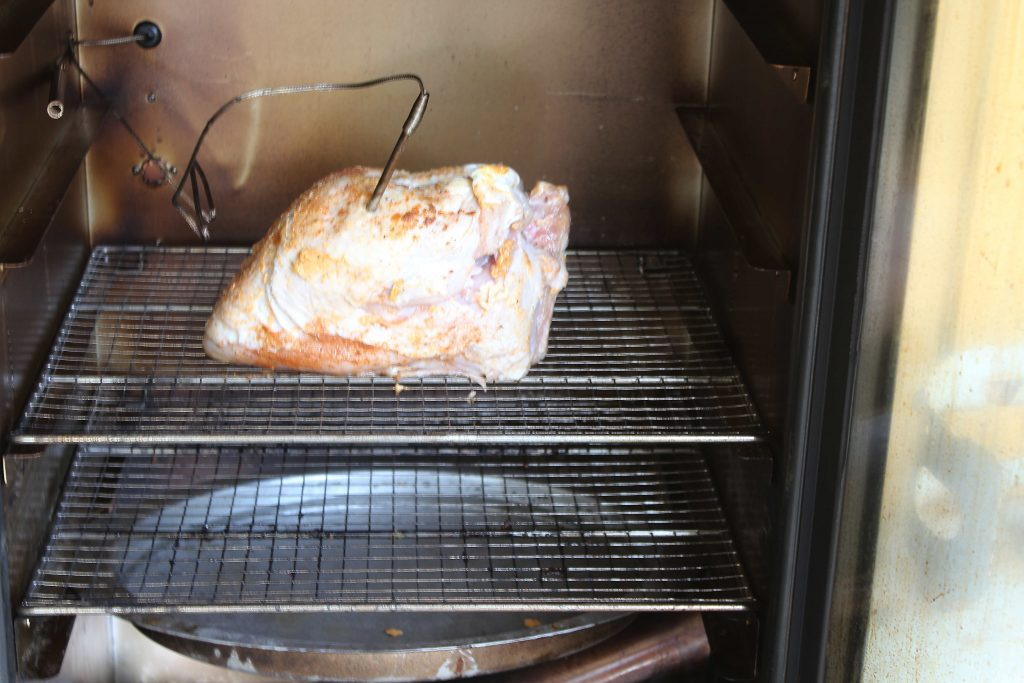 Turkey Breast on the smoker