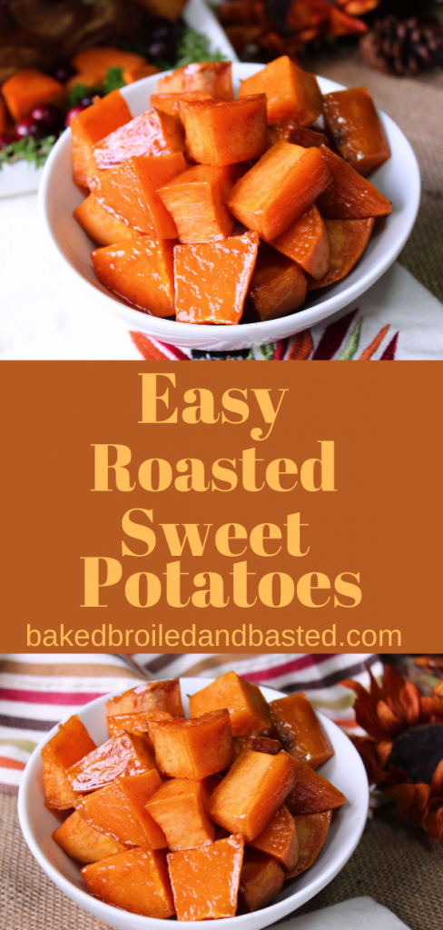 Easy Roasted sweet potatoes Pin