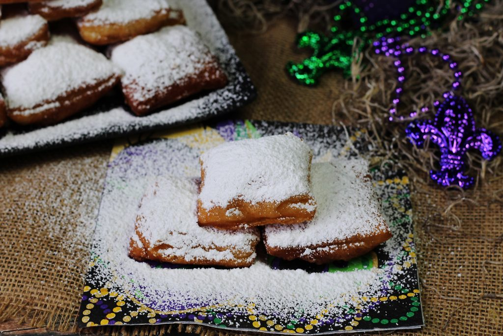 Easy Beignets on a napkin