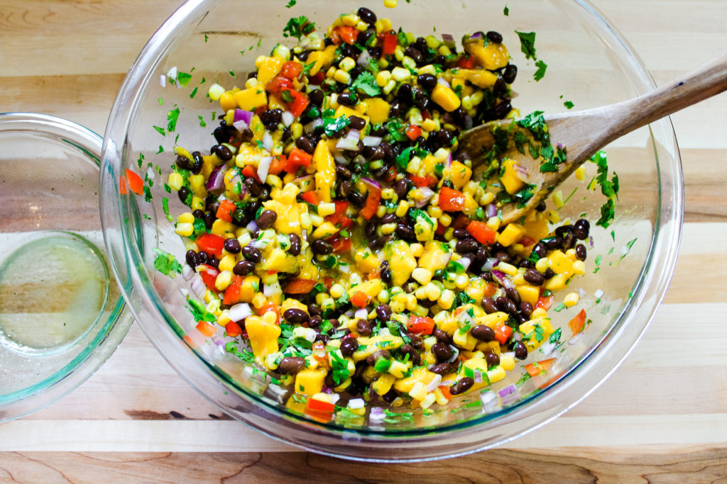 mixed mango black bean salad