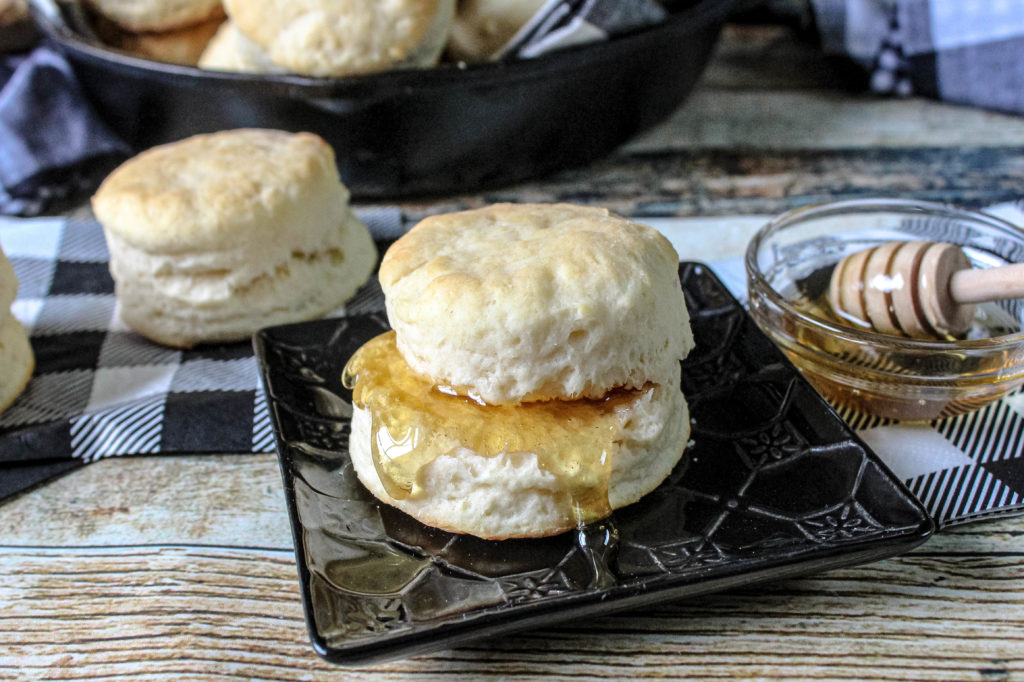 Honey on biscuits