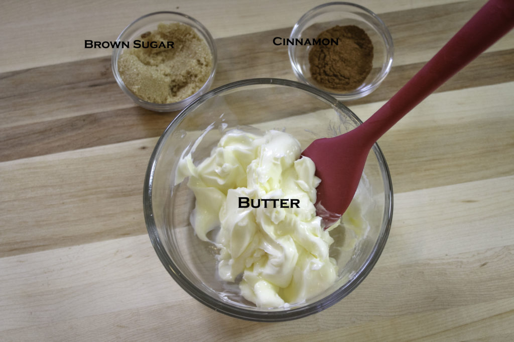 Ingredients for Cinnamon butter