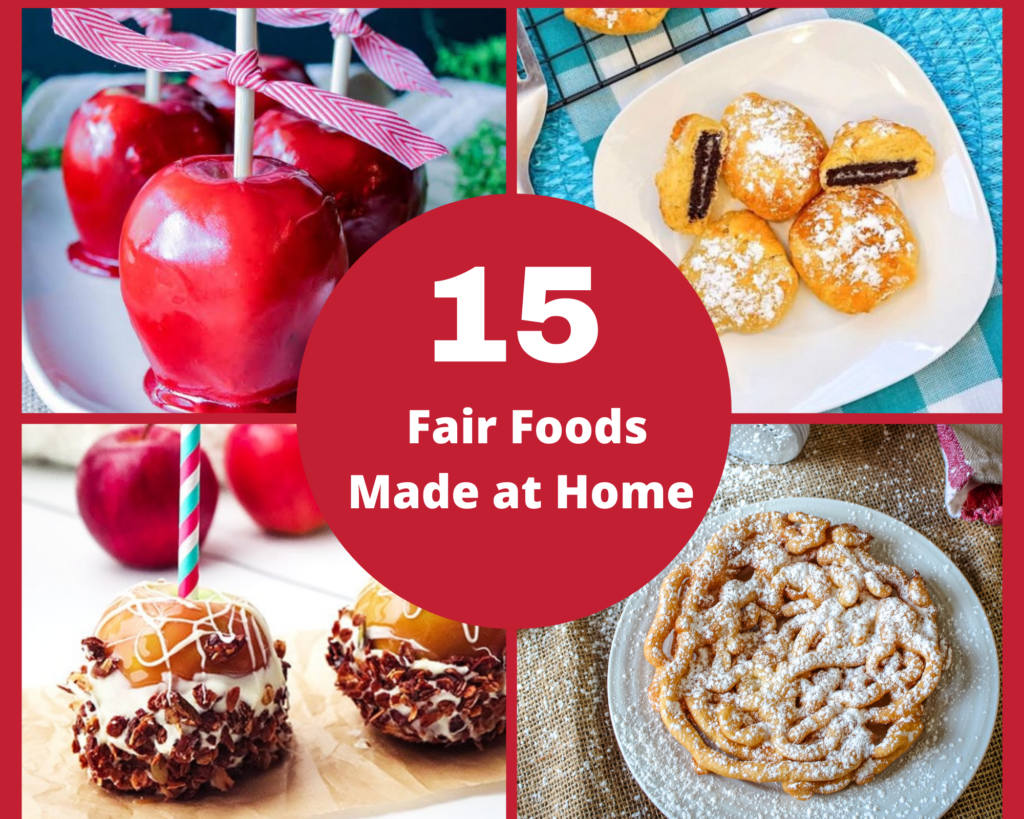collection of 15 fair foods