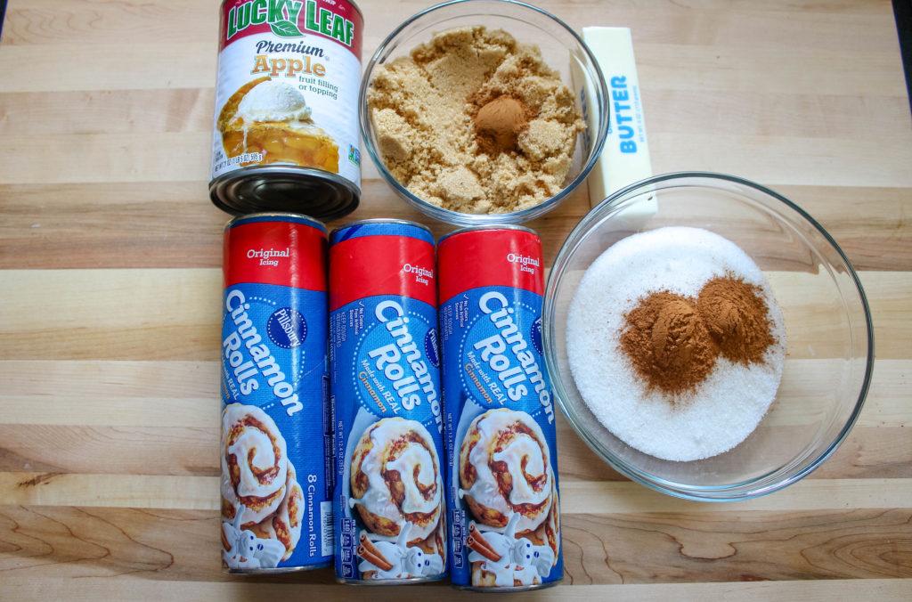 Ingredients for Apple Pie Monkey Bread