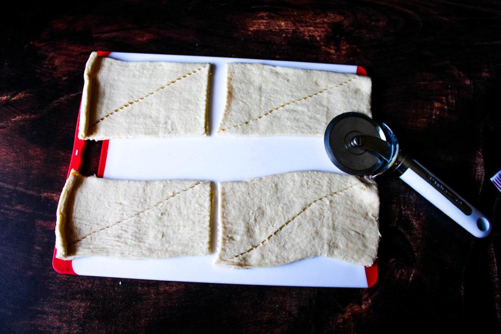 cutting crescent rolls