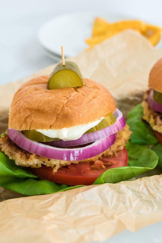 Pork tenderloin sandwiches for fair foods