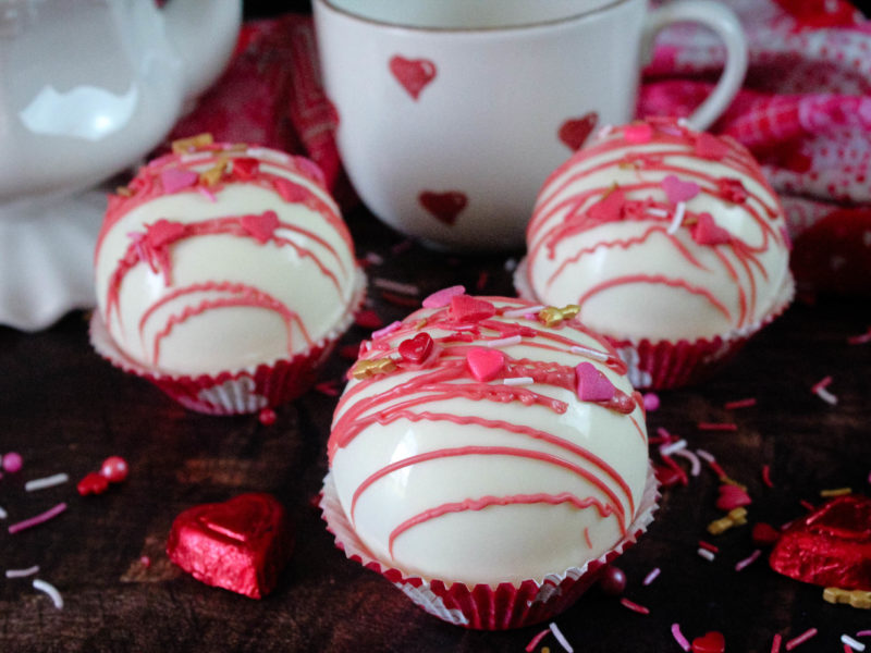 Pink Hot Cocoa Bombs