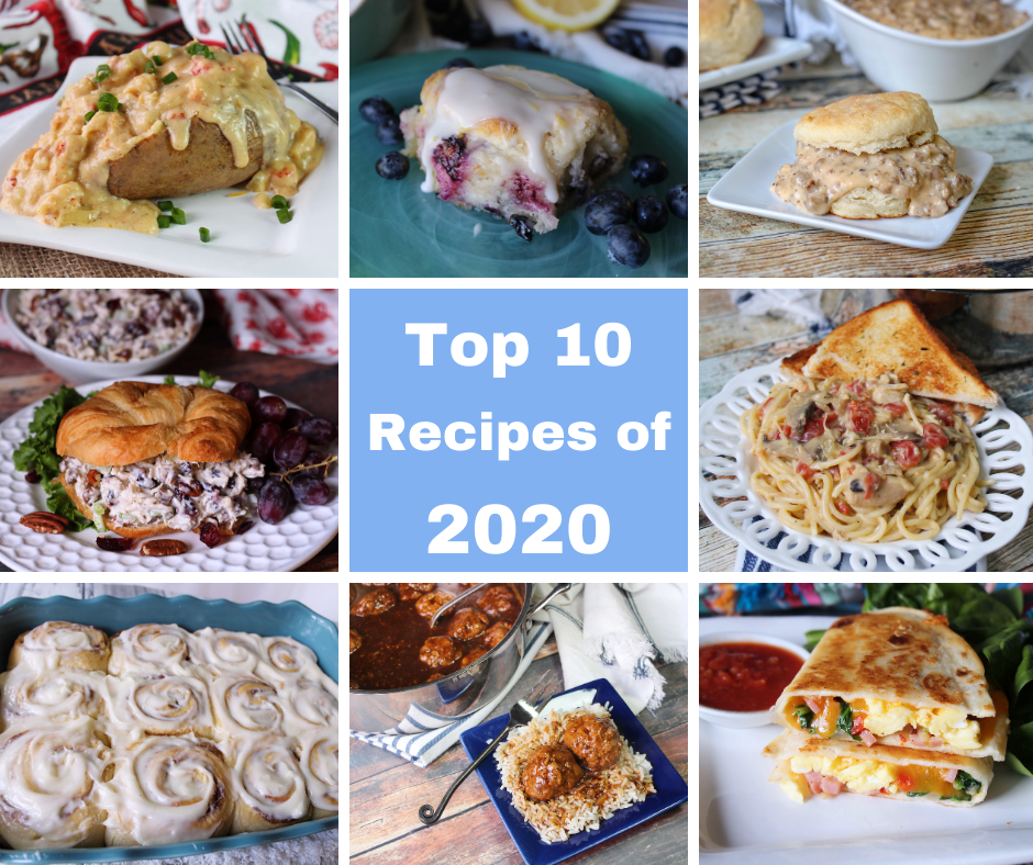 Pictures of the top 10 Recipes of 2020