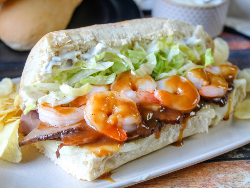 Surf and Turf Po'Boys