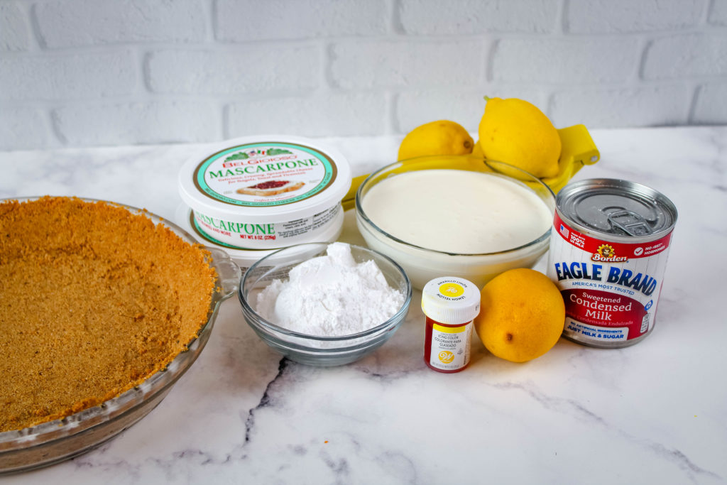 All of the ingredients for Lemon Cream Pie