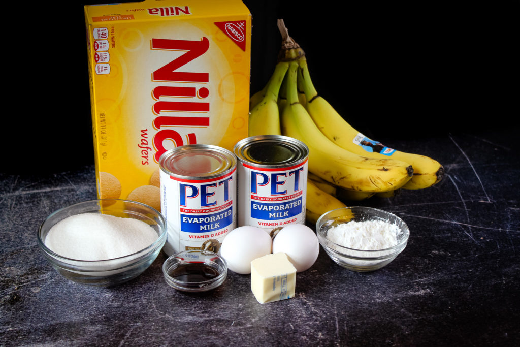 Ingredients for Homemade Banana Pudding