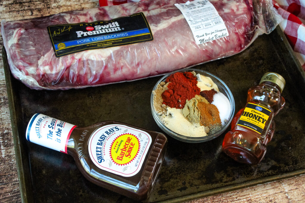 Ingredients for Oven Baked BBQ Baby Back Ribs